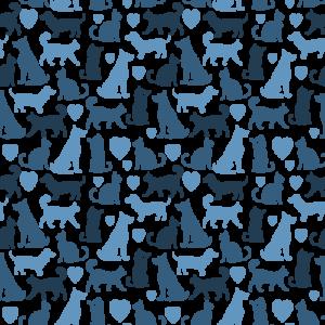 Cat Dog Heart Pattern